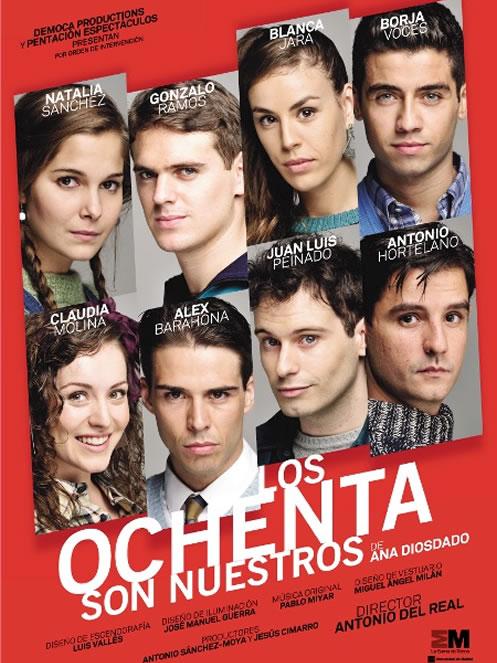 Cartel de la obra de teatro Los Ochenta Son Nuestros